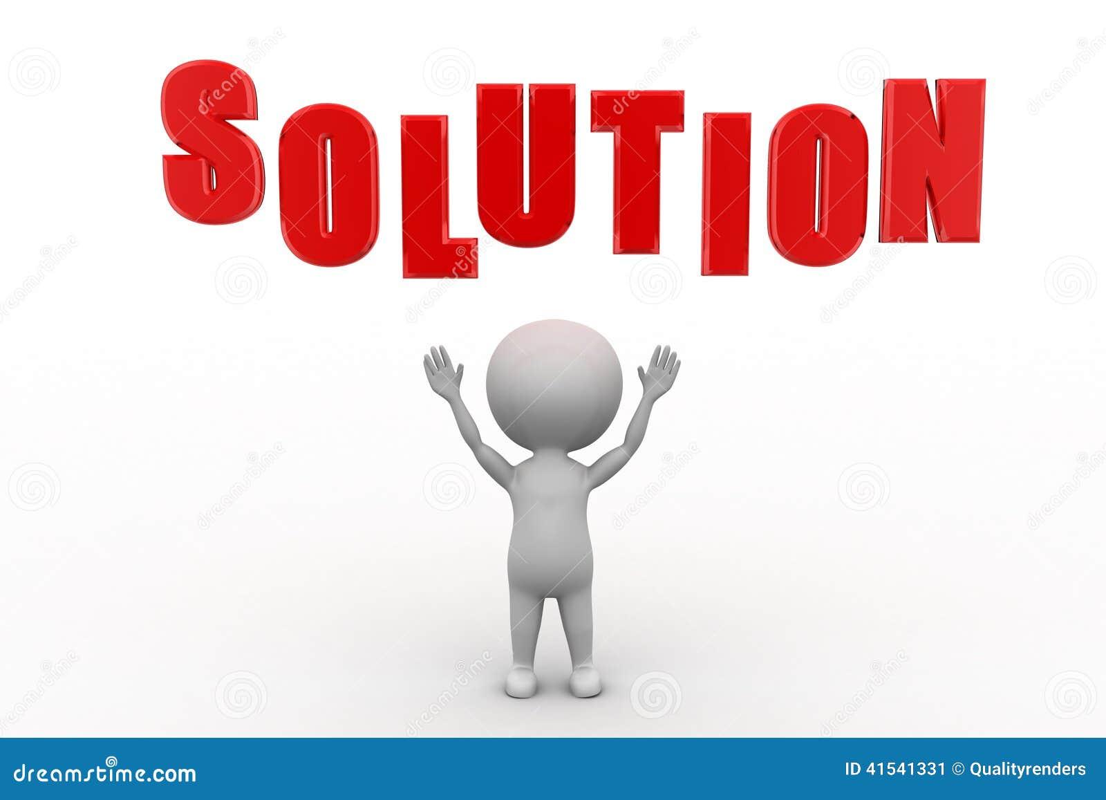 Stock Image 3d Man Solution Concept Image 41541331