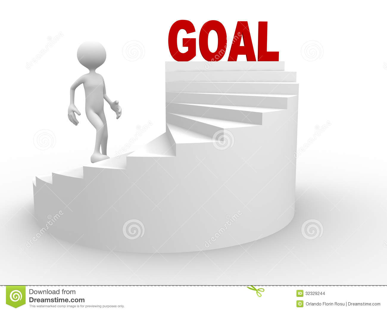 3d man with stair and word goal stock illustration illustration of 3d man with stair and word goal reheart Images