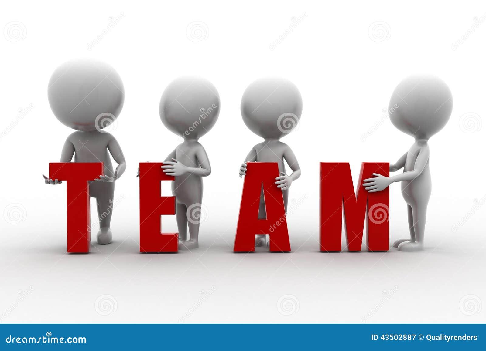 3d Man Team Illustration Stock Illustration Image 43502887