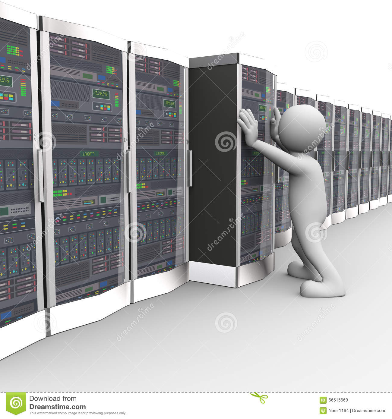 how to connect computer to work server