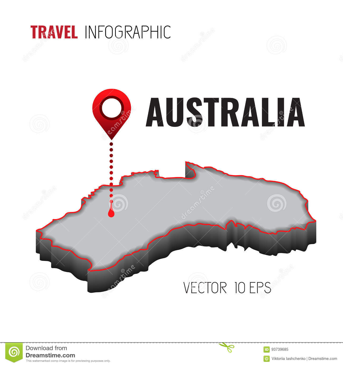 3d Map Of South Australia.3d Map Of Australia Gps Navigator Pin Checking Green Color On