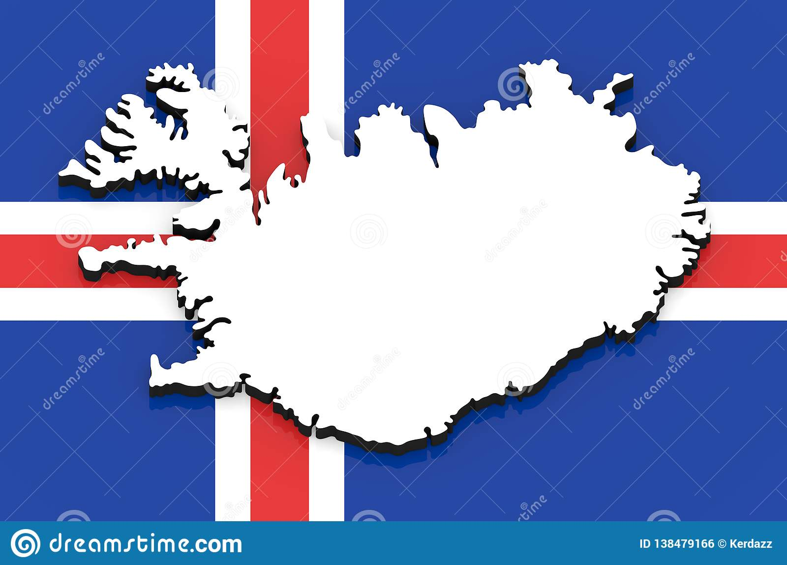 3D Map Of Iceland On The National Flag Stock Illustration ... Iceland On A Map on iceland mountains map, iceland map by christiane engel, iceland scandinavia europe, iceland map black and white, iceland physical map, iceland on globe, iceland flag, iceland map with map key, iceland travel, iceland country map, iceland road map, iceland map with volcanoes, iceland global map, world map, iceland topographic map,