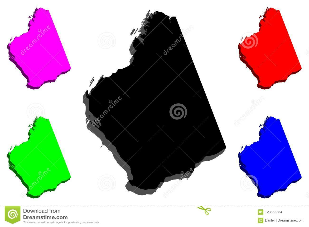 States And Territories Of Australia Map.3d Map Of Western Australia Stock Vector Illustration Of Area