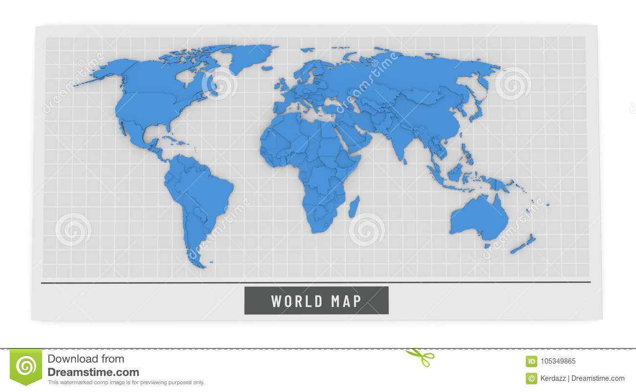 3d Globe Map Bump Map.3d Map Of The World Stock Illustration Illustration Of Ocean