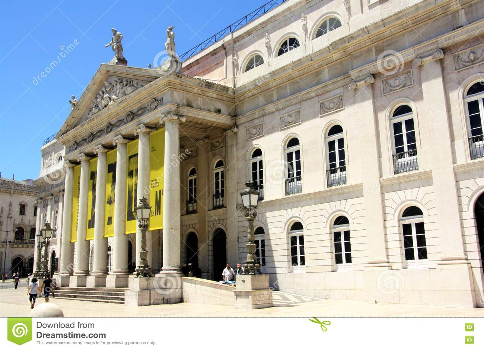 D. Maria II National Theatre in Lisbon, Portugal