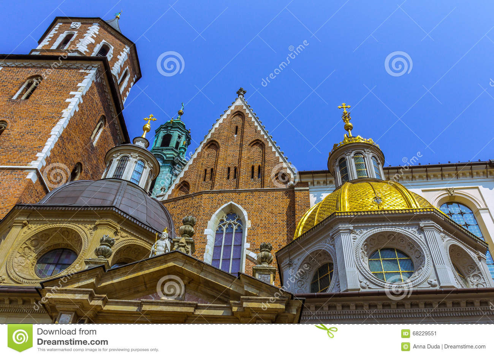 Dôme d or de cathédrale de Cracovie (Cracovie) - Pologne Wawel