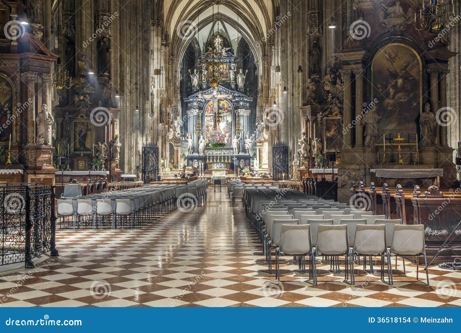 Dôme de Stephans à Vienne de l intérieur