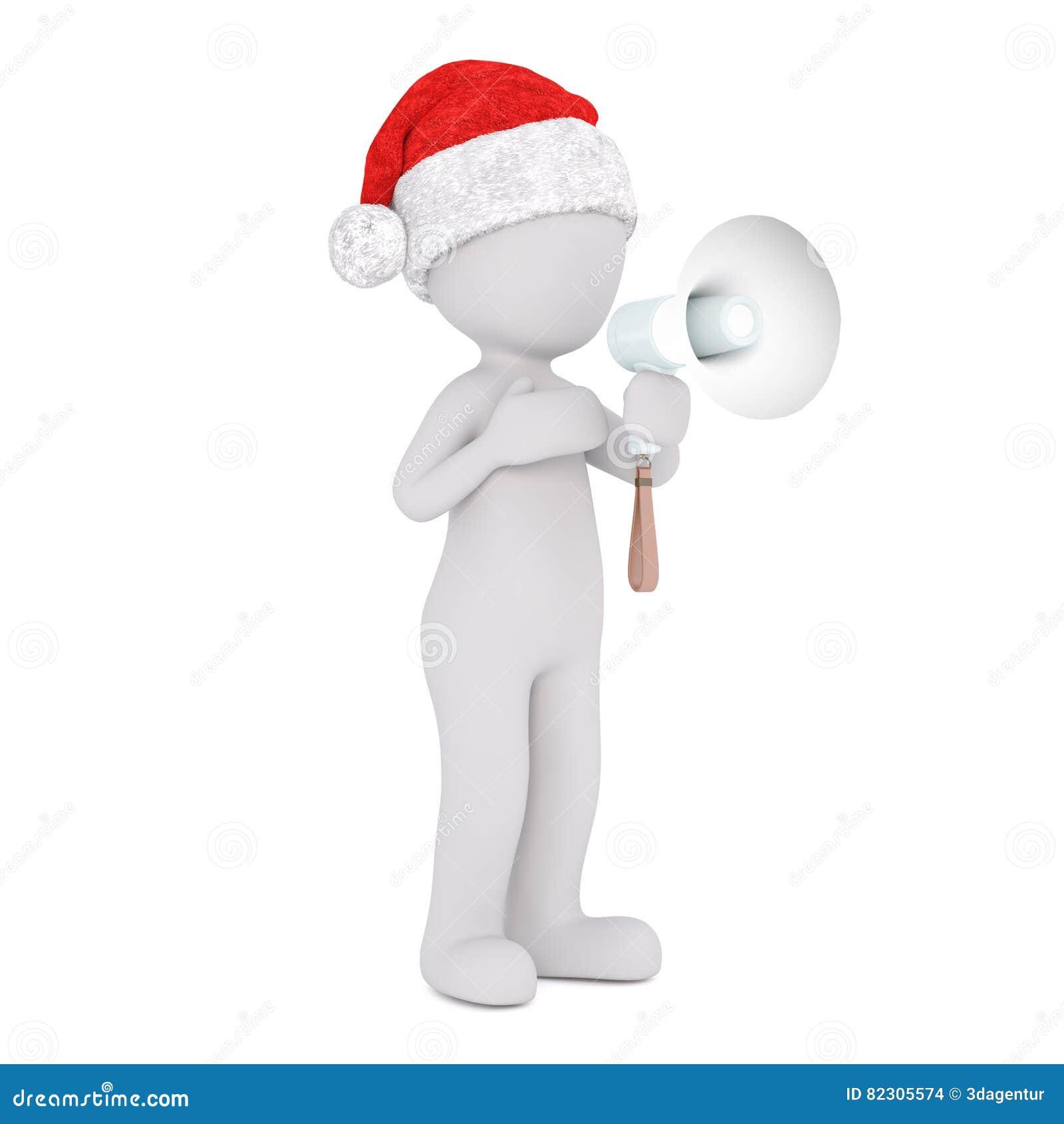 3d mens of protesteerder die een megafoon houden
