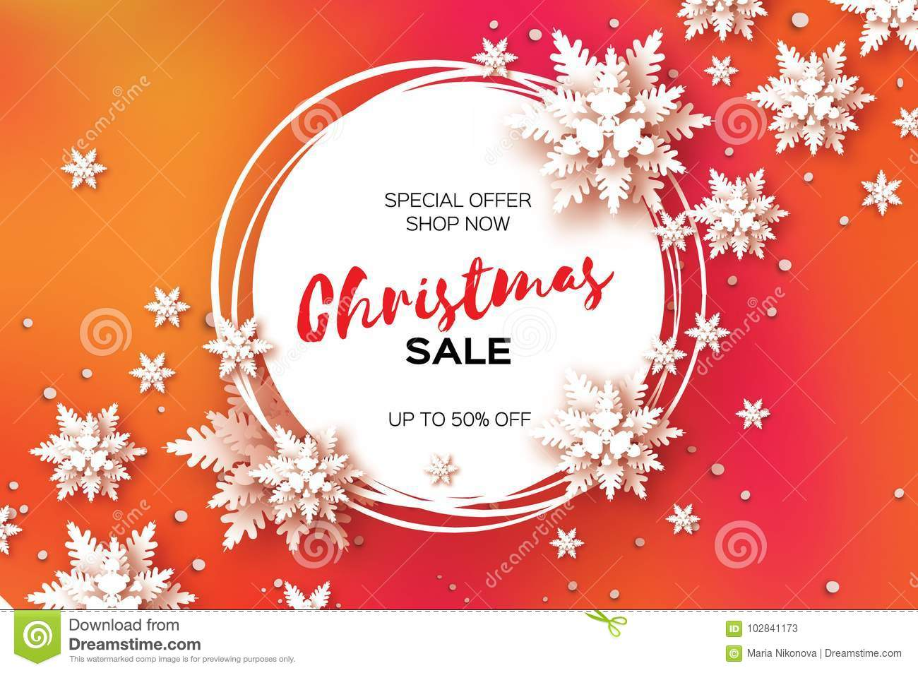 3d Merry Christmas Big Sale For Promotion 50 Buy Now Paper Cut