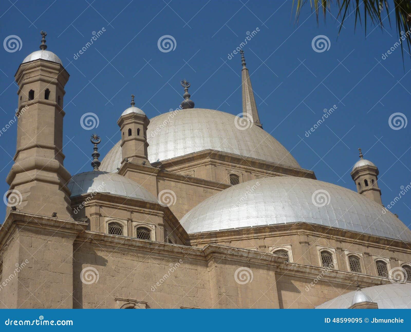 Dômes d albâtre de Mohammed Ali Mosque In Cairo Egypt