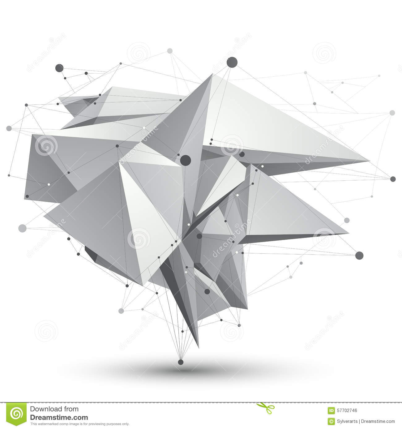 3D Mesh Modern Stylish Abstract Object, Origami Facet ... - photo#30