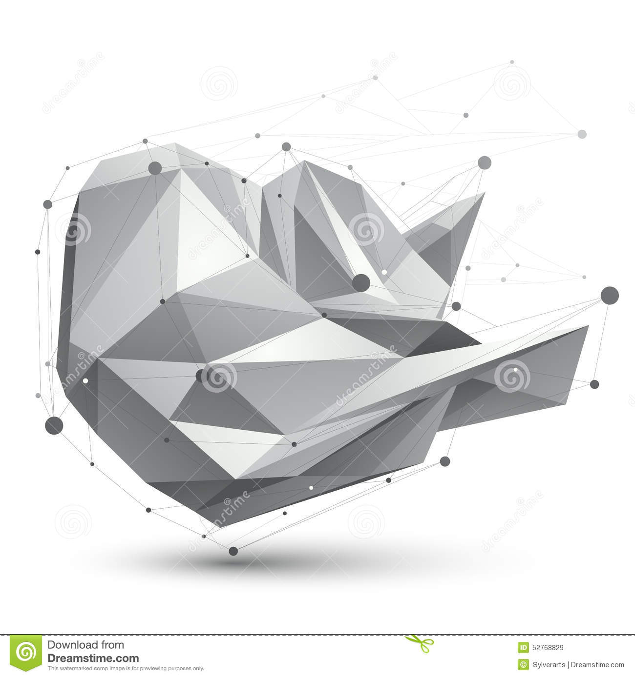 3D Mesh Modern Vector Polygonal Abstract Object, Origami ... - photo#50