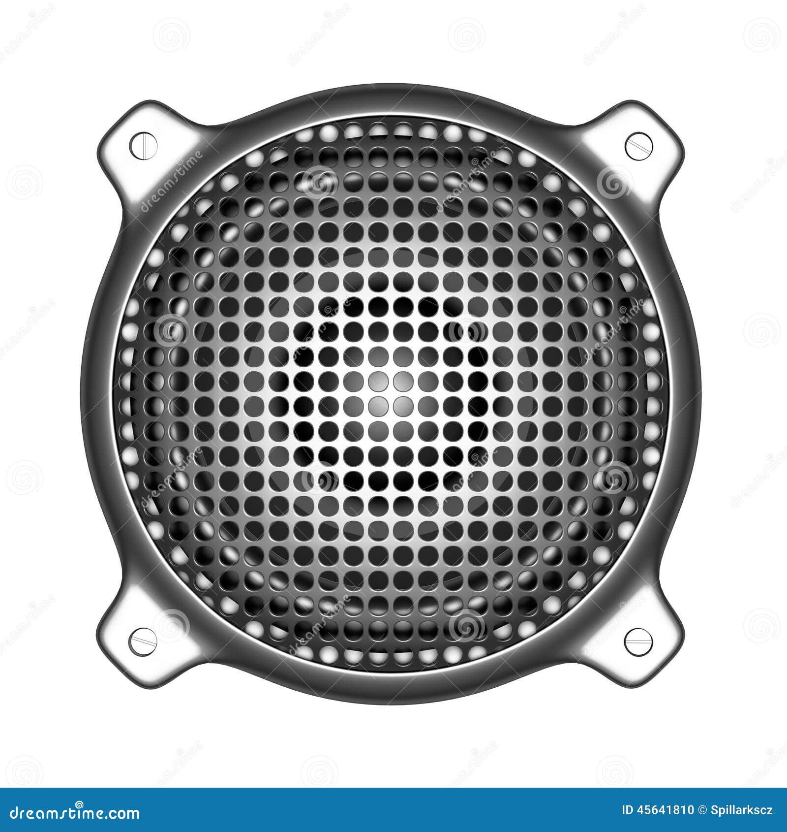 3d metalu mówca z grilla systemu dźwiękowego dj DJ narzędziami
