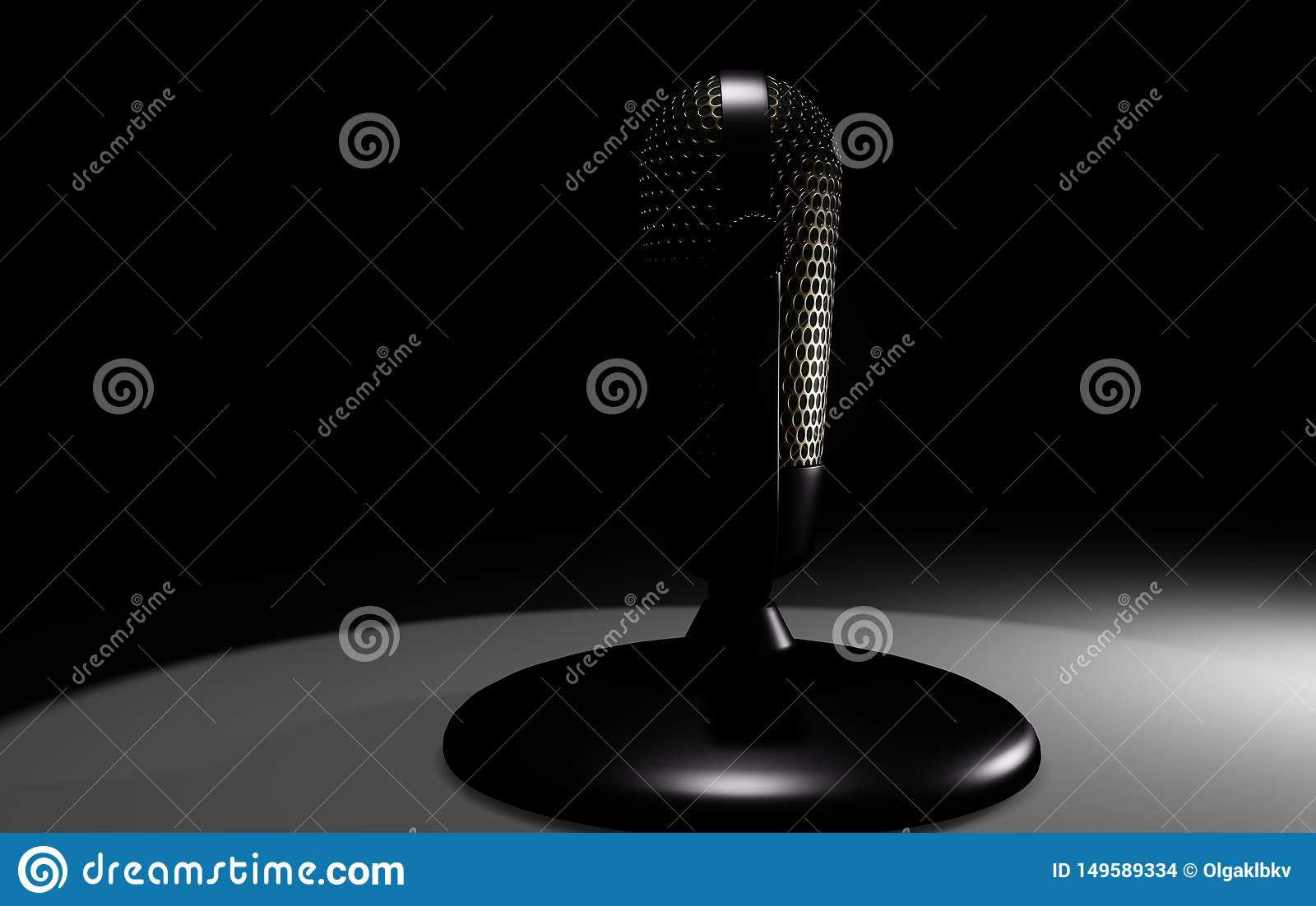 3D microphone on the stand
