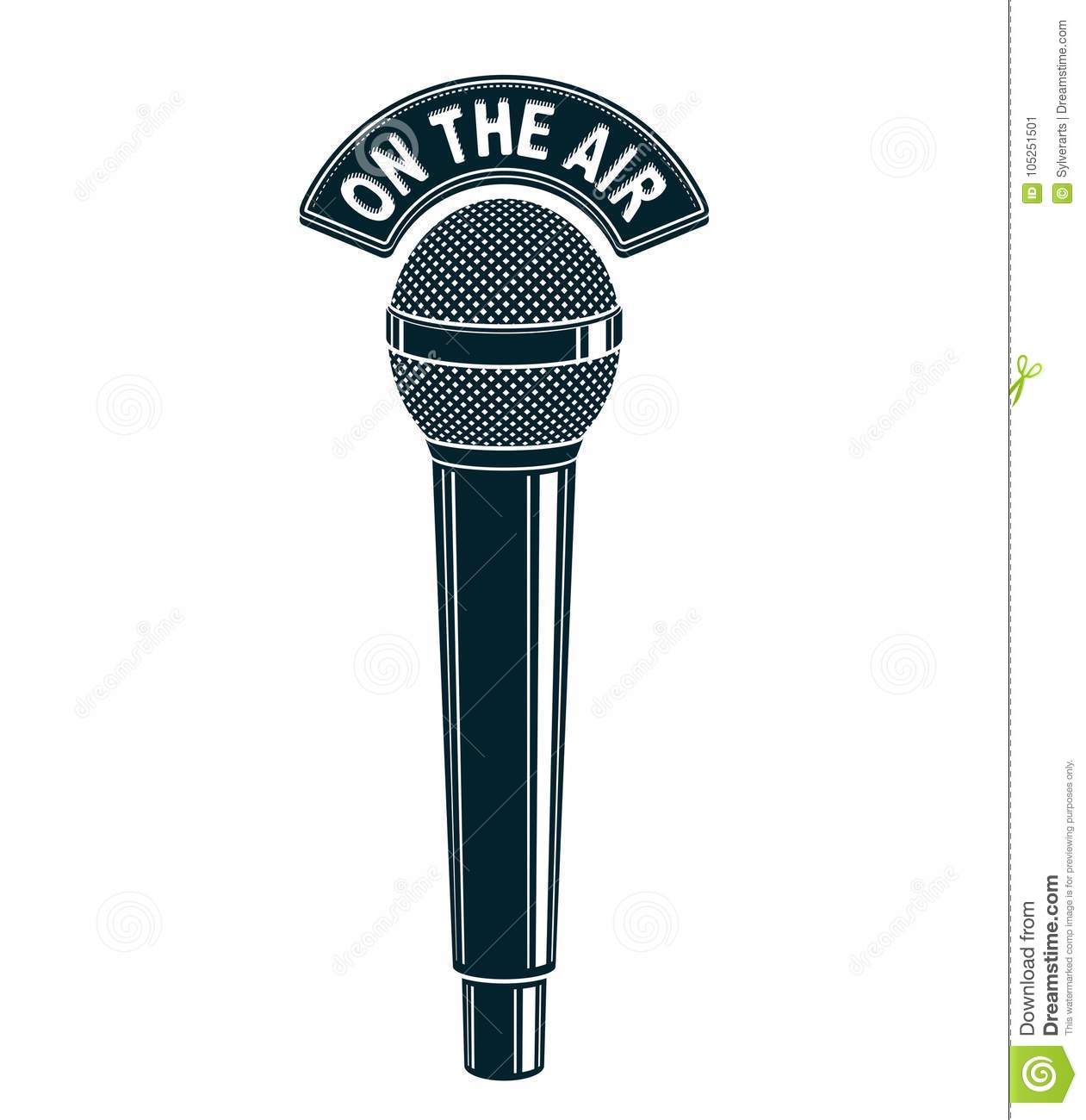 d-microphone-vector-illustration-isolate