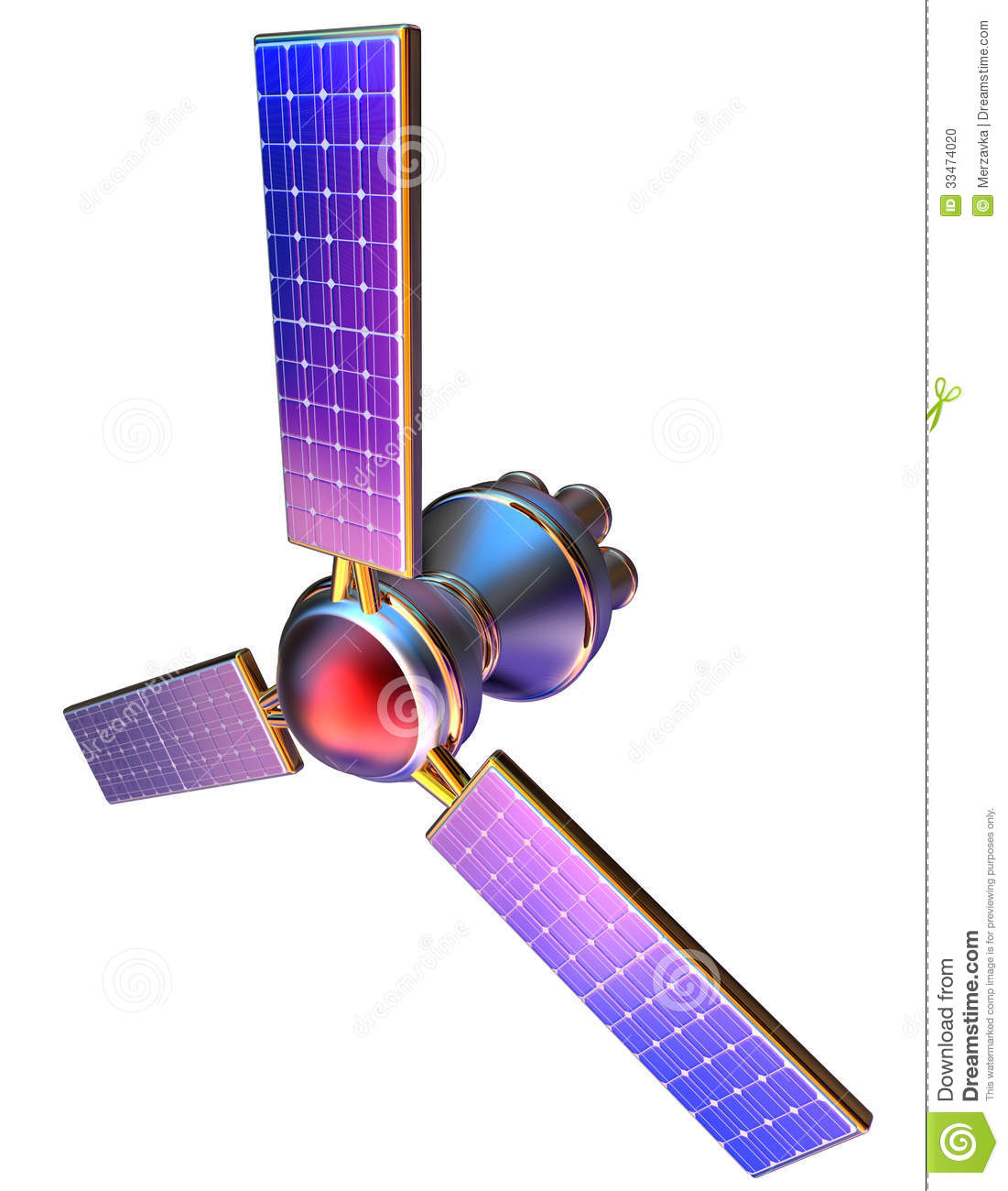 3d Model Of An Artificial Satellite Of The Earth Stock