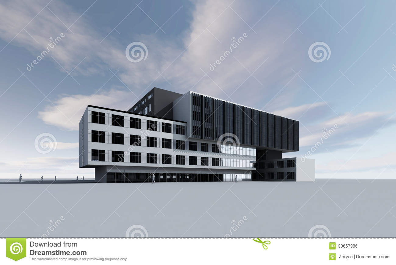 3d model of building royalty free stock image image for Build house online 3d free