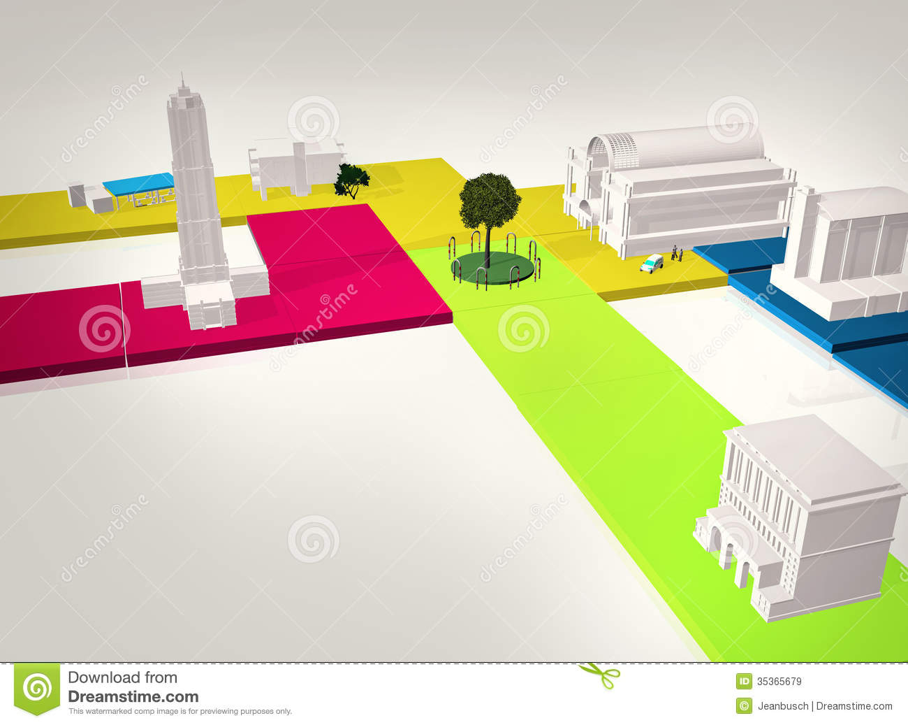 3D Model city stock illustration  Illustration of model - 35365679