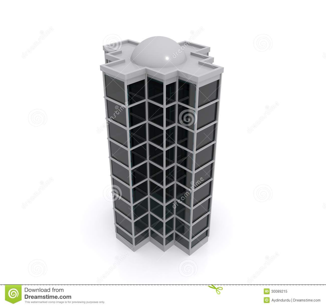 3d model of highrise building stock image image of metal for Build house online 3d free