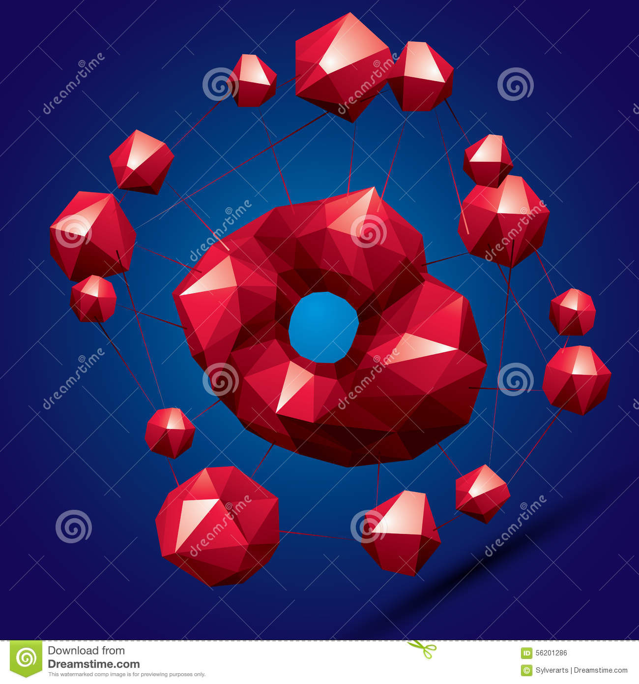 3D Modern Bright Abstract Construction, Origami Facet ... - photo#42