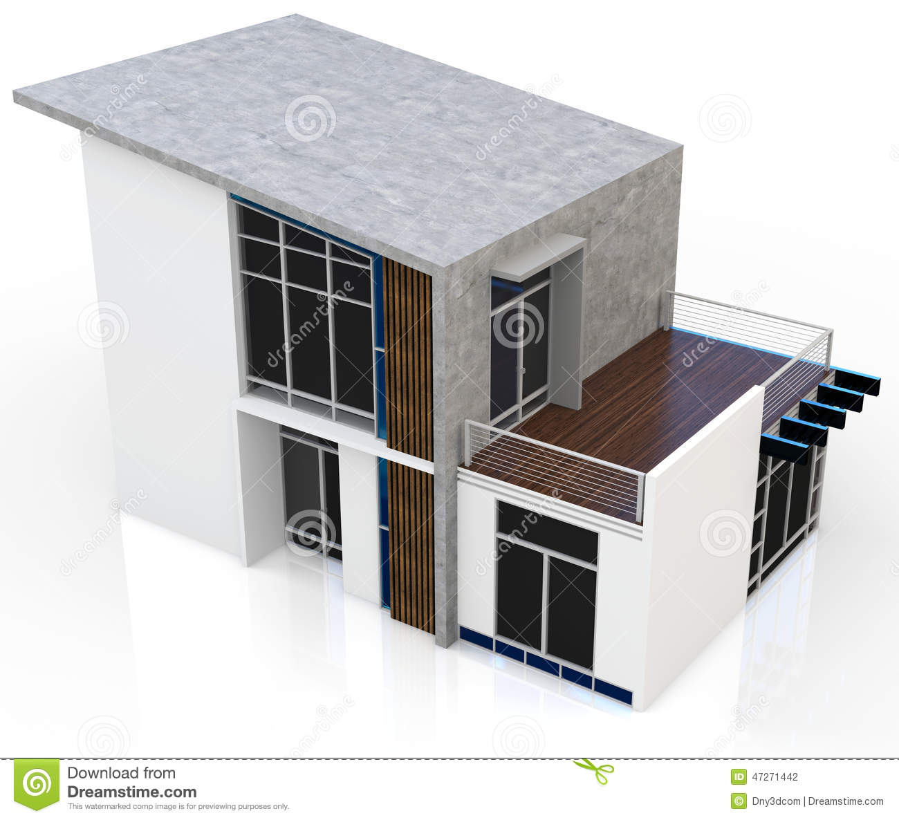 3d modern house stock illustration image of estate house - Punch home design architectural series 18 ...