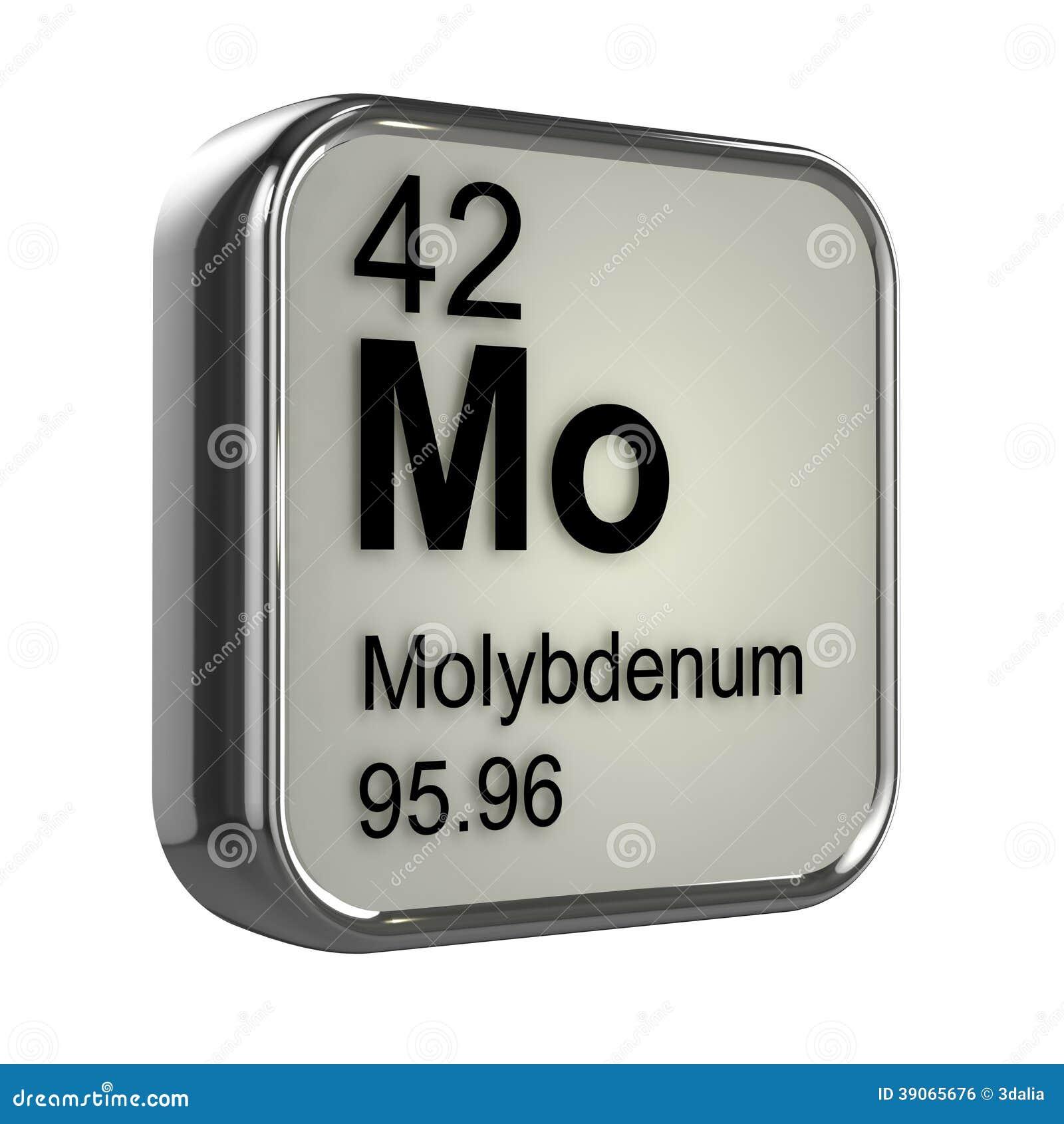 3d Molybdenum element
