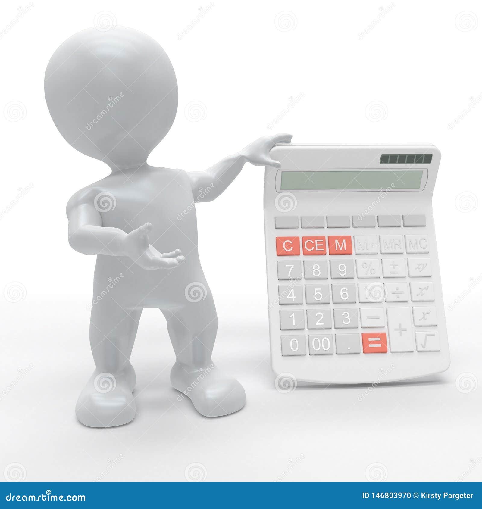 3D Morph l uomo con il calcolatore