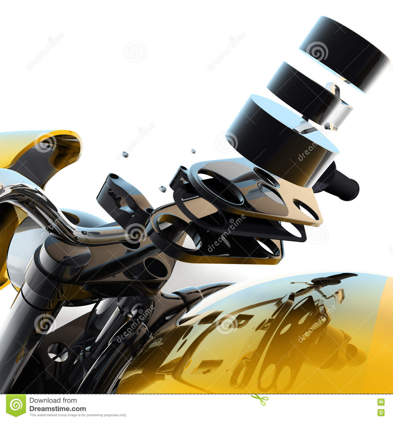 3d Motorcycle Parts Diagram Stock Illustration Illustration Of