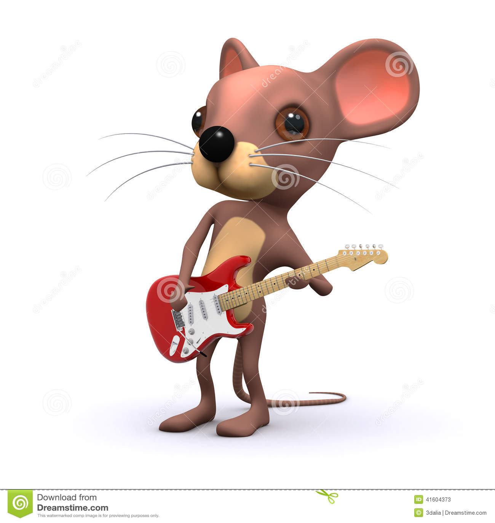 3d Mouse Guitarist Stock Illustration Illustration Of