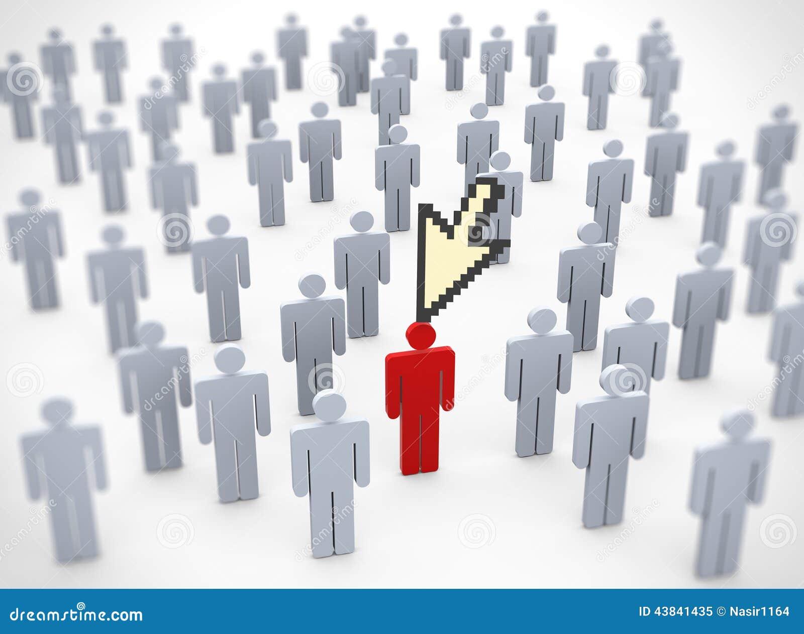 to unique red person in Unique Person In A Crowd