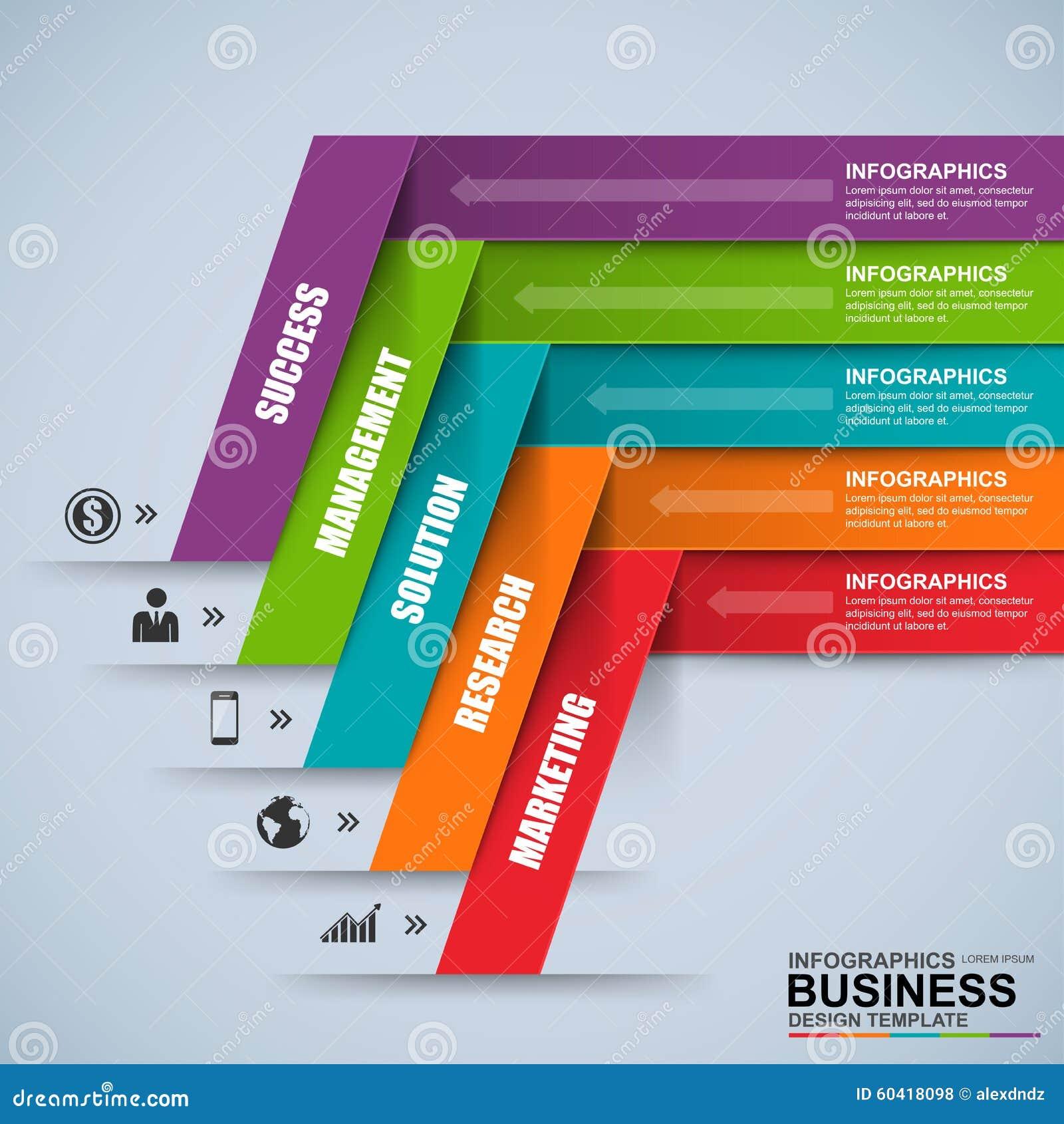 3D negocio digital abstracto Infographic