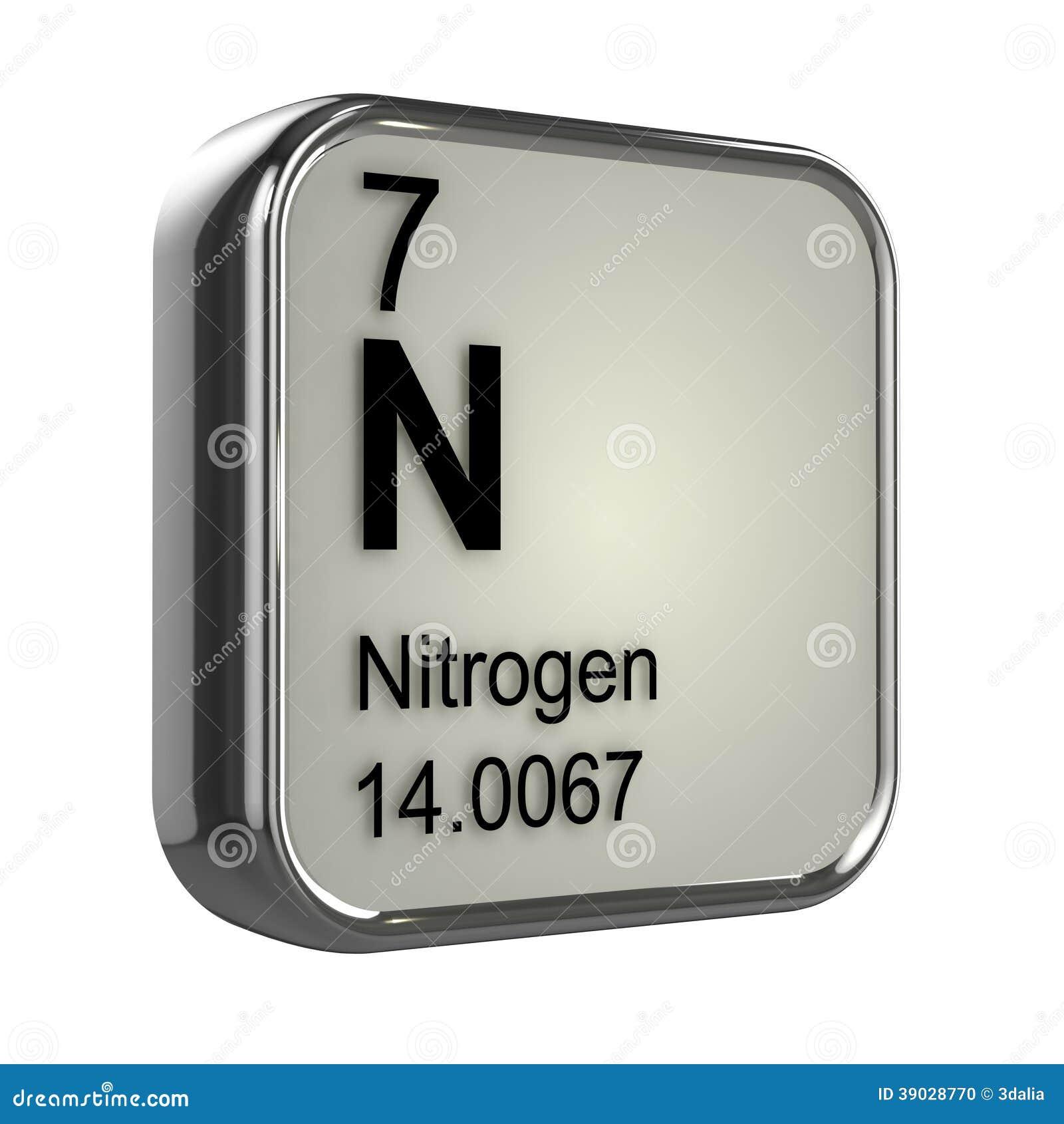 3d Nitrogen Element Stock Illustration Illustration Of
