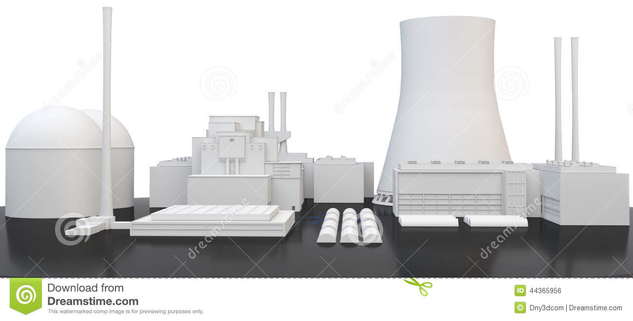3d Nuclear Power Plant Stock Illustration Image 44365956