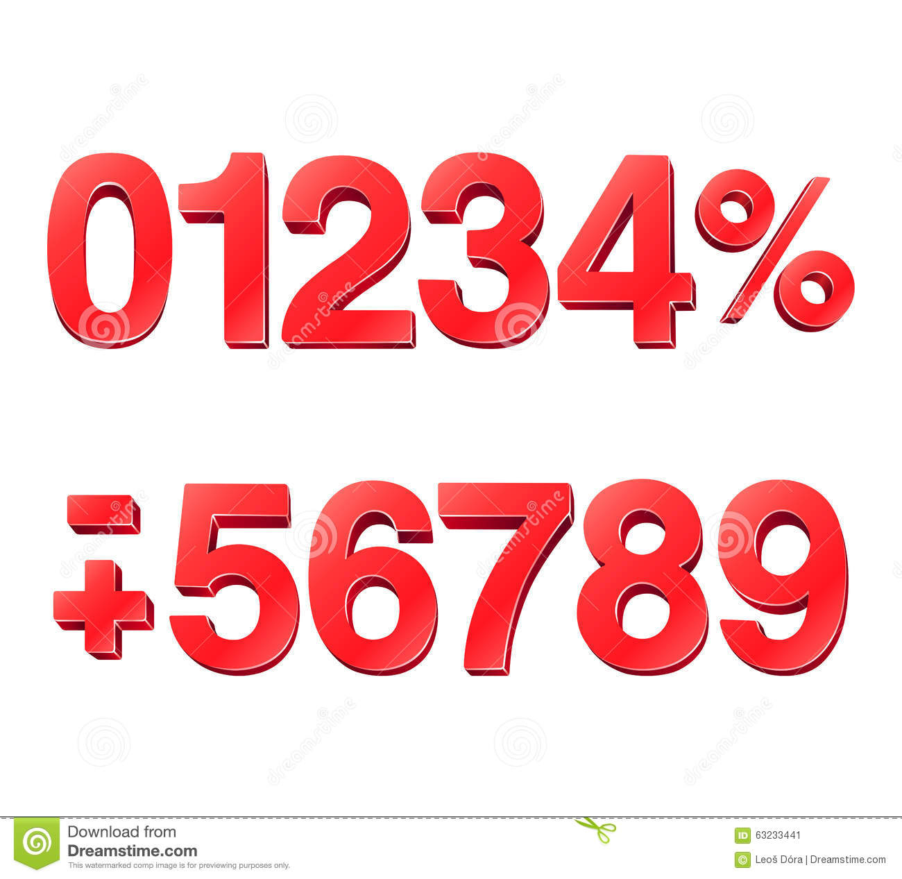 3d numbers stock vector illustration of numbers