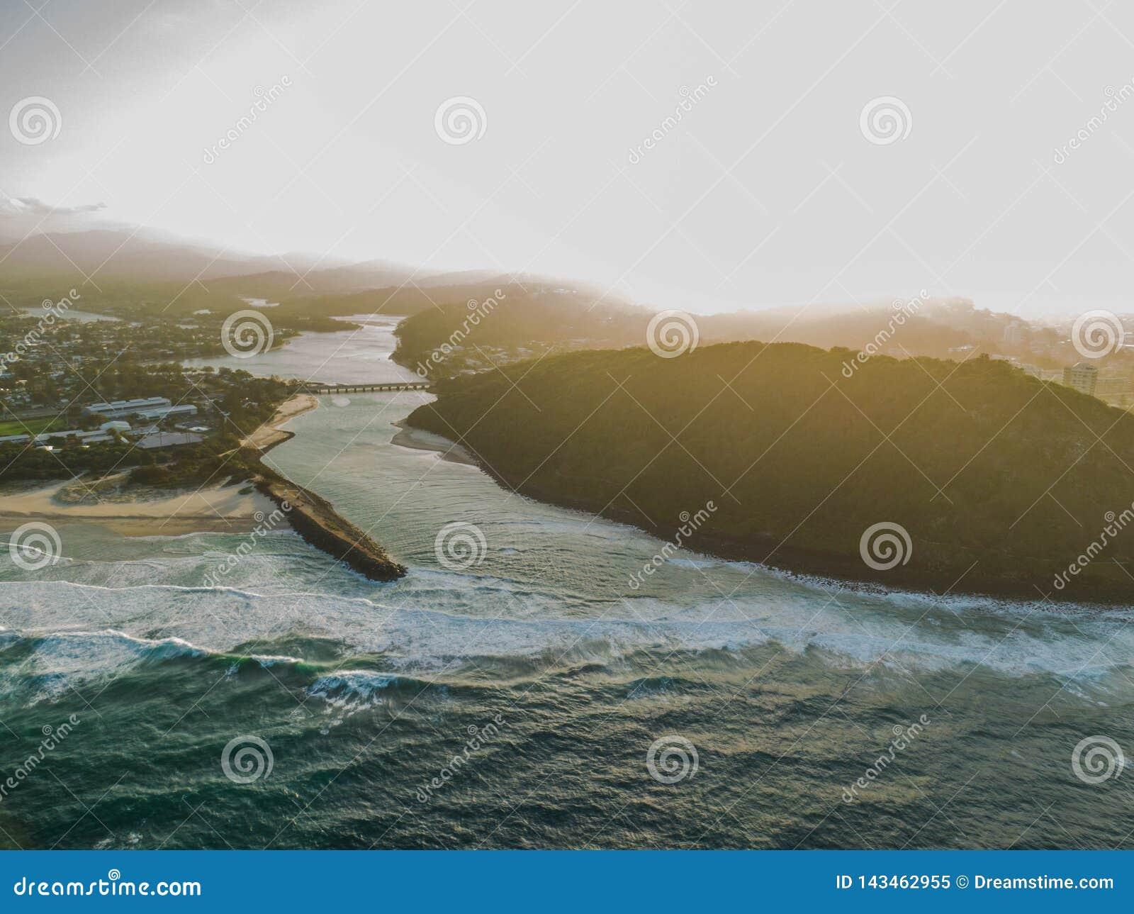 3 d ocean sprawia, że zachód słońca