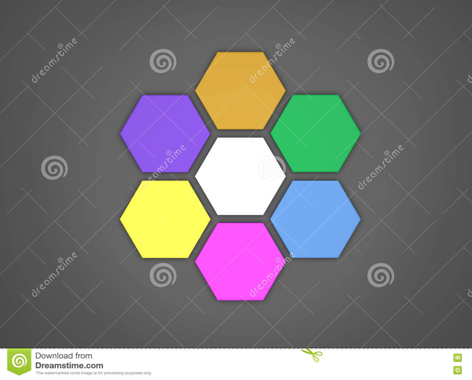 3d octagon template layout stock illustration illustration of