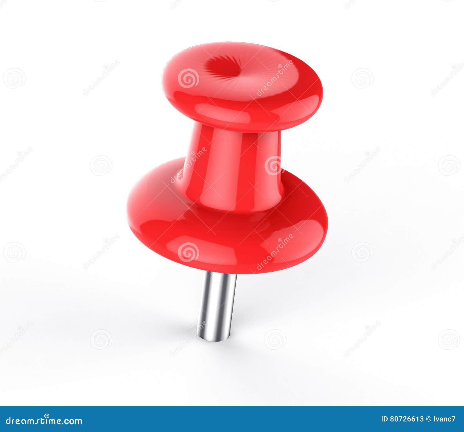 3D Odosobniony Czerwony Pushpin