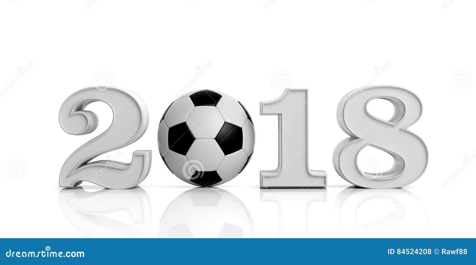 3d odpłaca się nowego roku 2018 z piłki nożnej piłką