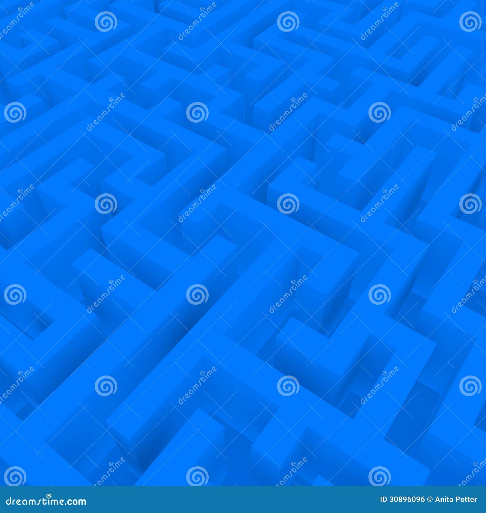 3d Odpłacają się Błękitny labirynt