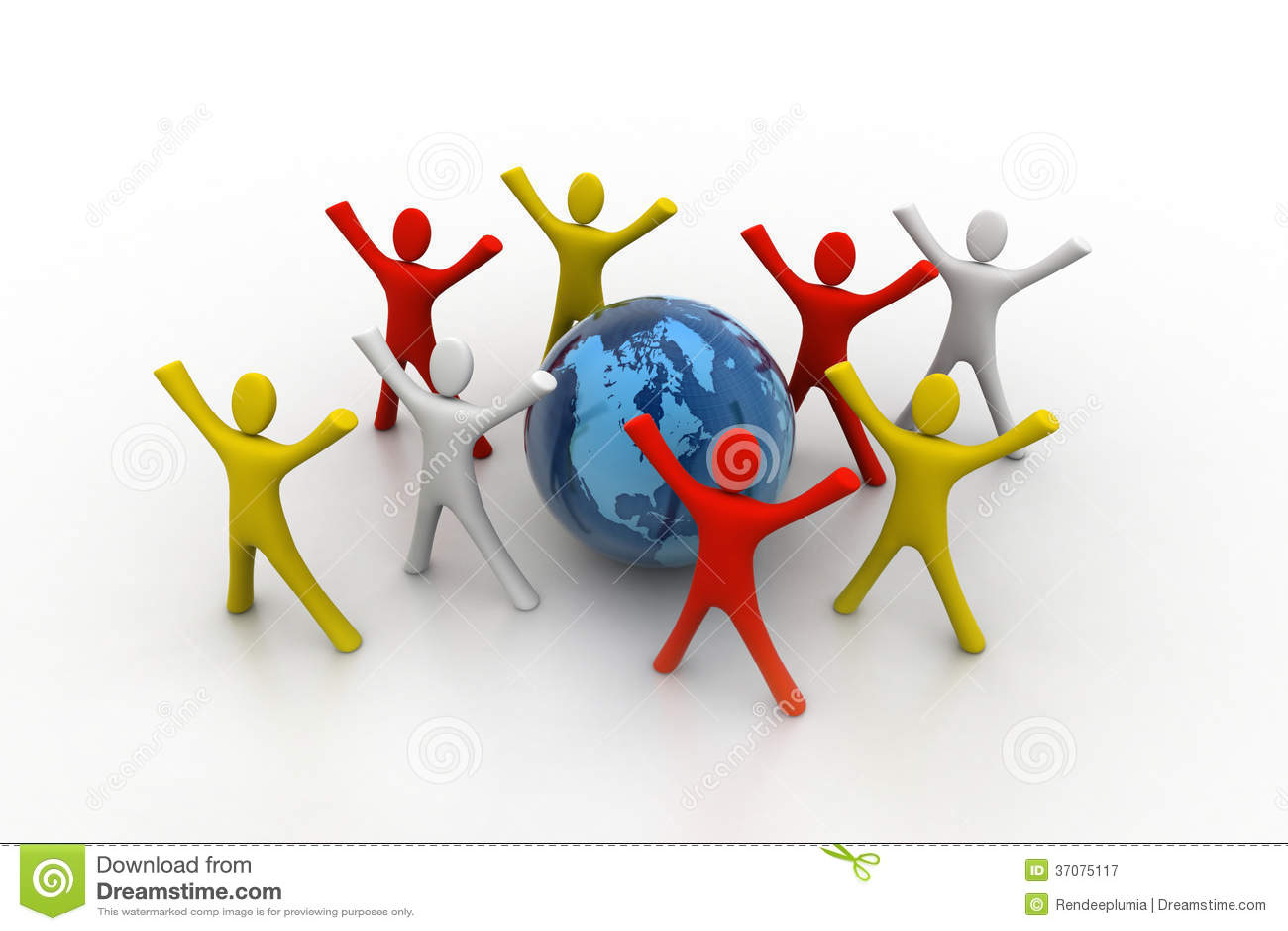 Download 3d Odpłacają Się Barwioni Ludzie Wokoło Kuli Ziemskiej Ilustracji - Ilustracja złożonej z teamwork, współpraca: 37075117