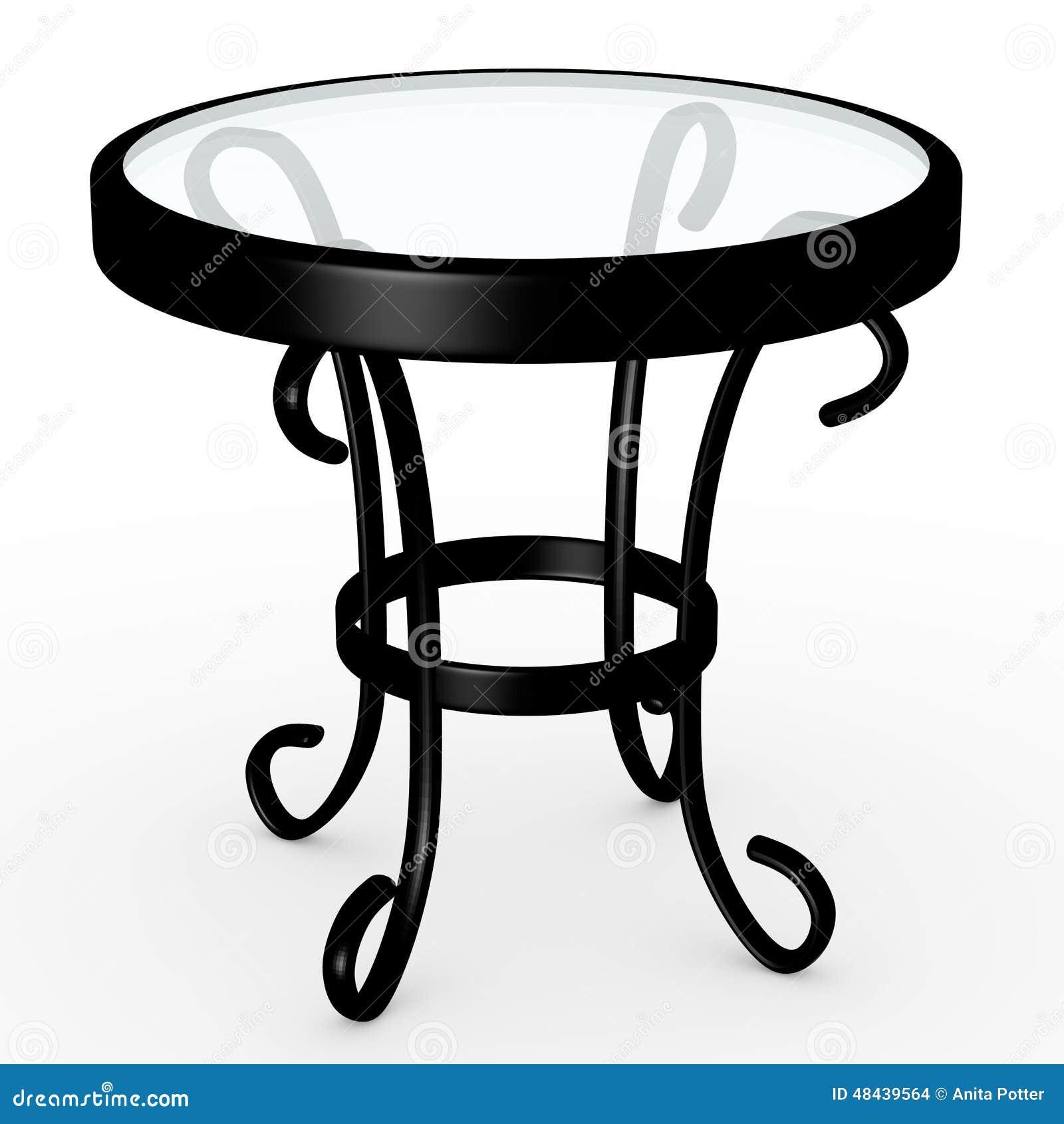 3d Odpłacają się szkło wierzchołka stół