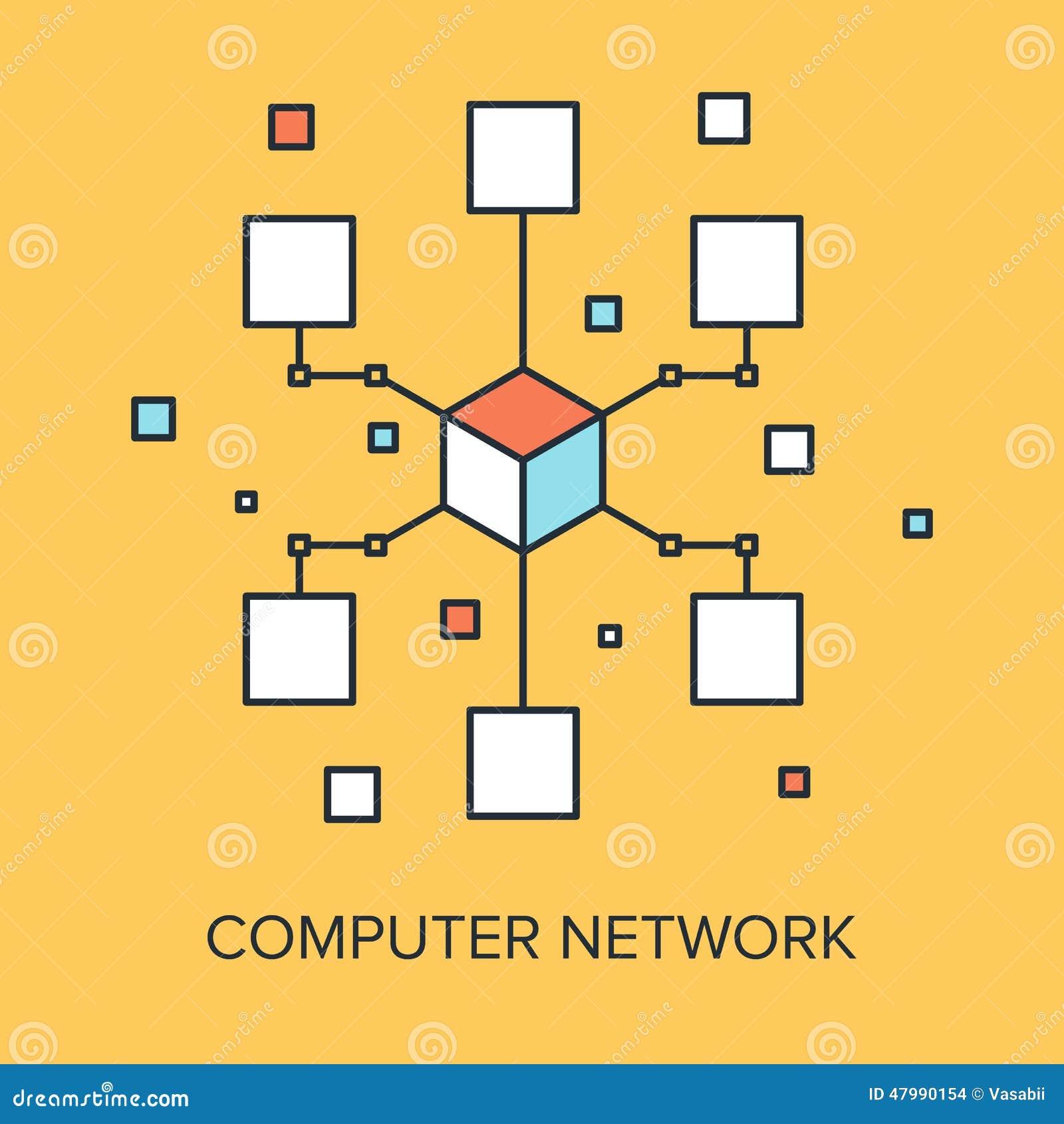 3d odpłacający się sieć komputerowa obrazek