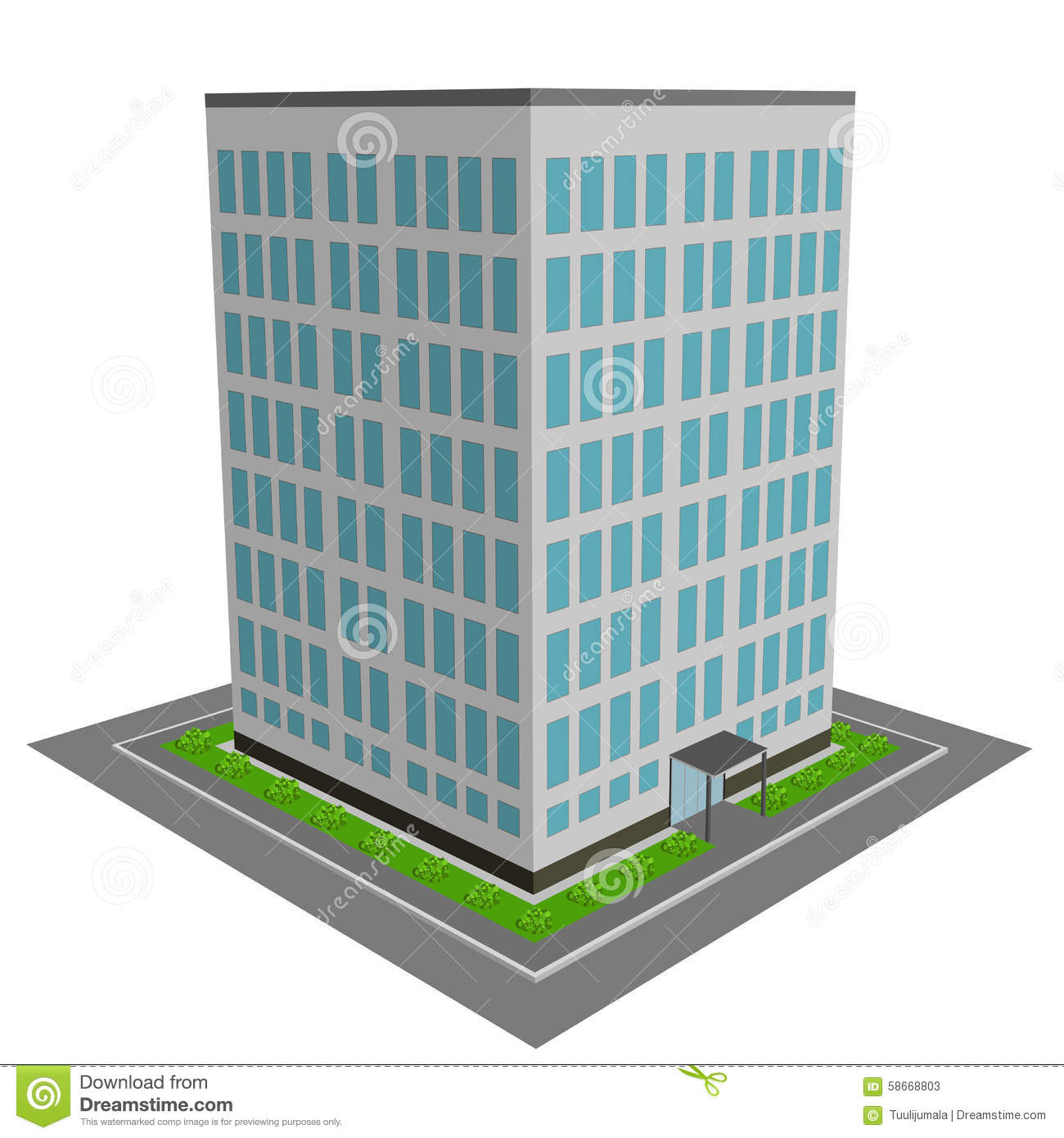 3D office building sto...