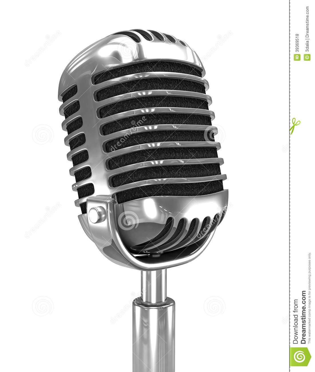3d Old Radio Microphone Stock Illustration - Image: 39369518