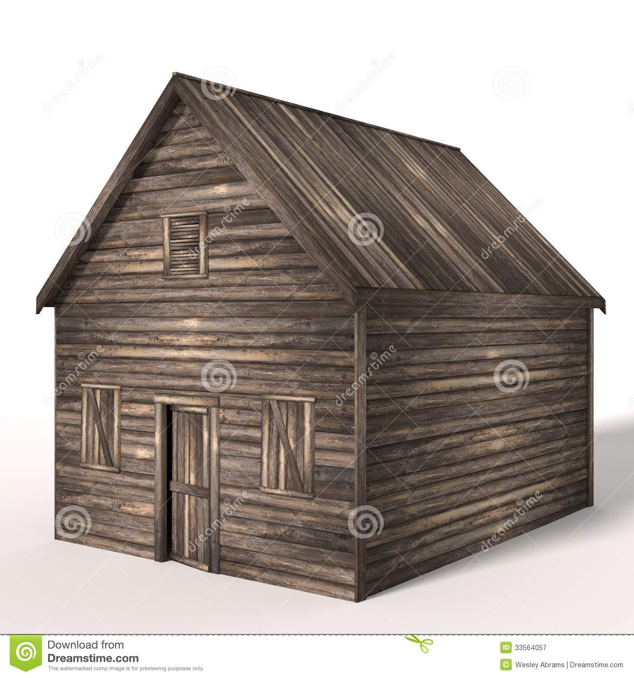 White Shed Wood Door