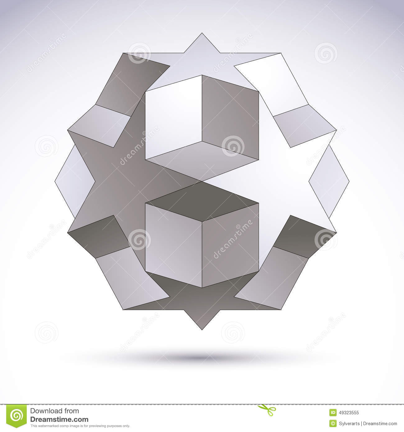 3D Origami Abstract Object, Vector Abstract Design Element ... - photo#9