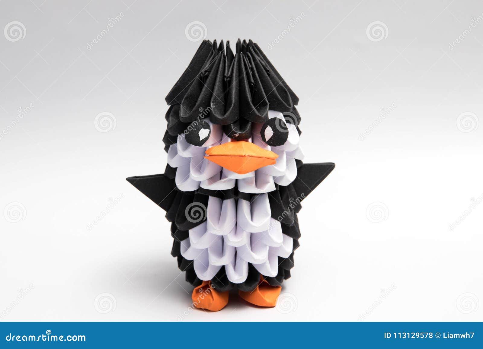 3d Origami Penguin Manchot Animal Stock Photo Image Of Geometric