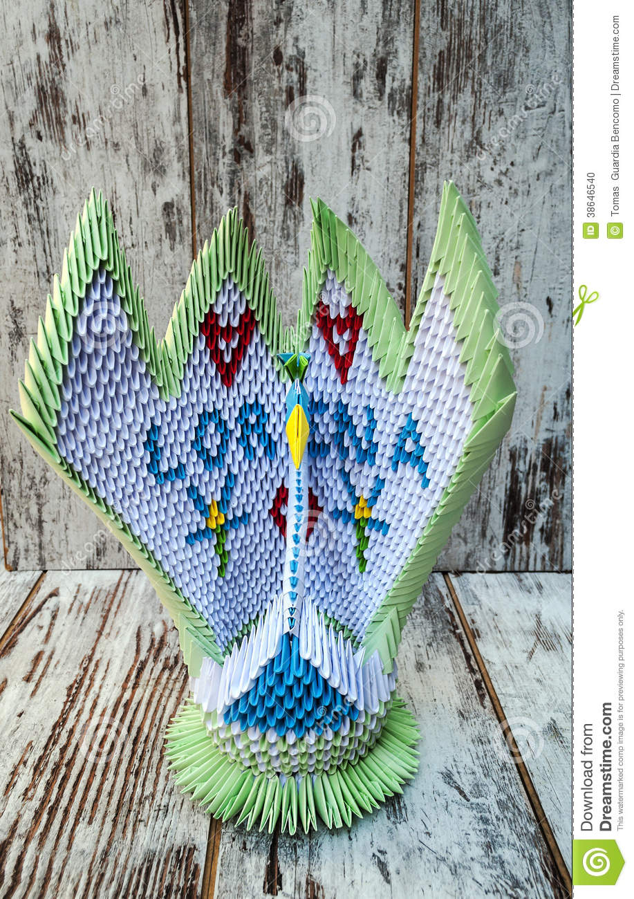3d Origami A Swan Stock Photo Image Of Peace Craft 38646540 Diagram Embroidery