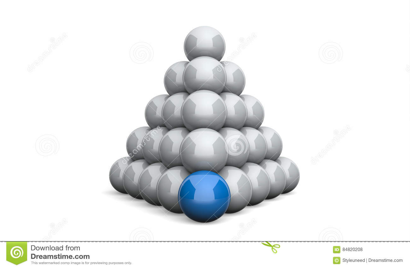 3D ostrosłupa pojęcia Ilustracyjny Balowy błękit 2