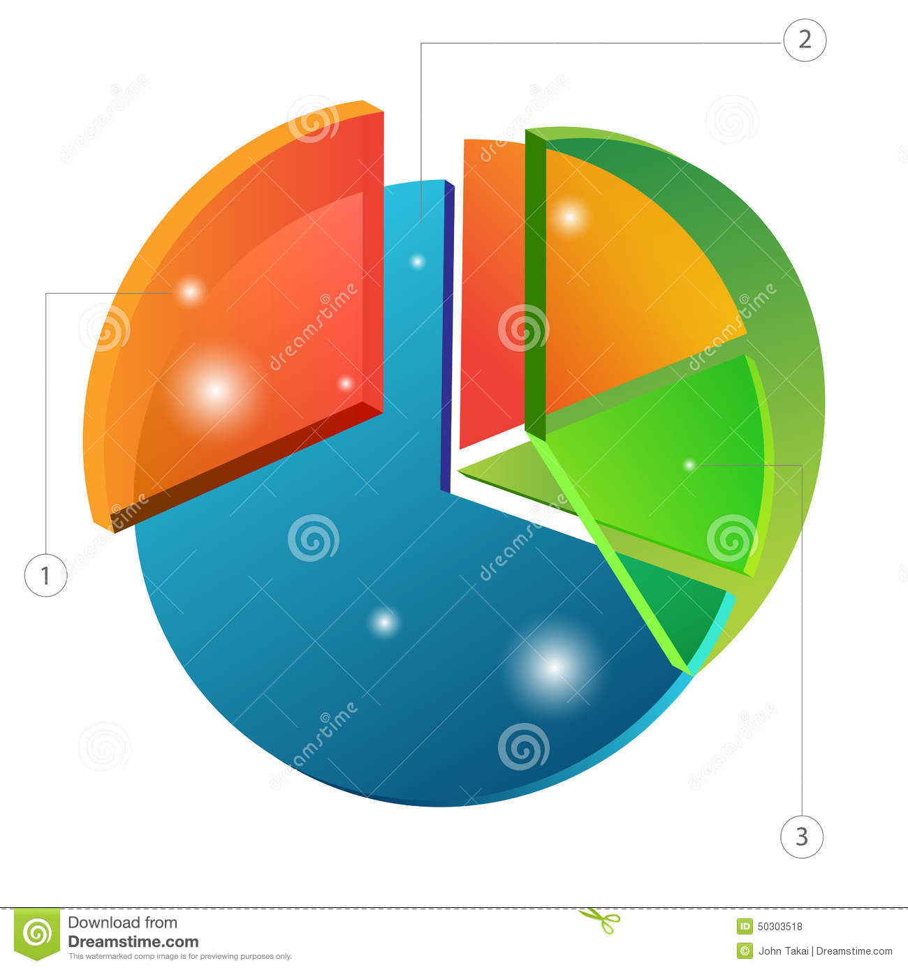 3d overlapping pie chart stock vector illustration of graph 50303518 3d overlapping pie chart nvjuhfo Image collections